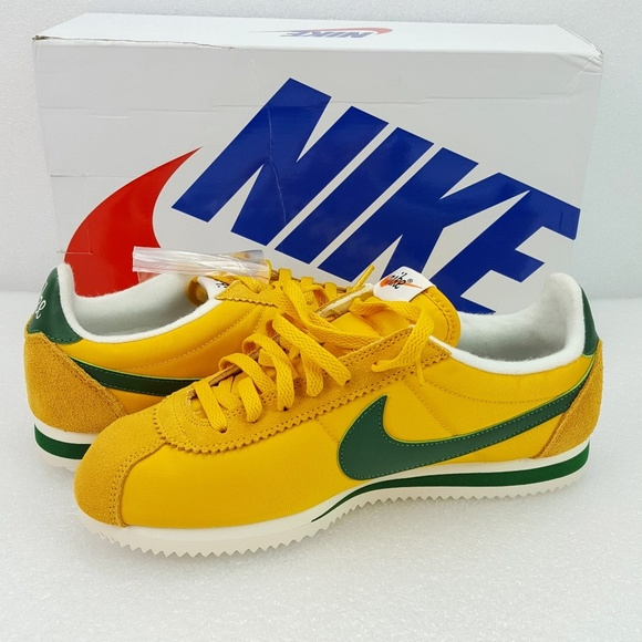 low priced 37a24 3fc11 Nike Cortez Oregon Pack Yellow Green